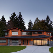 Contemporary Exterior by Upward Construction & Renovation