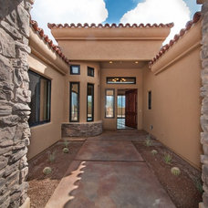 Mediterranean Exterior by Copper Canyon Residential Builders L.L.C