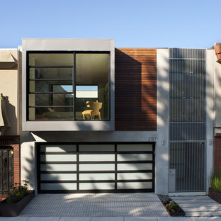 Inspiration for a modern exterior in San Francisco with wood siding.