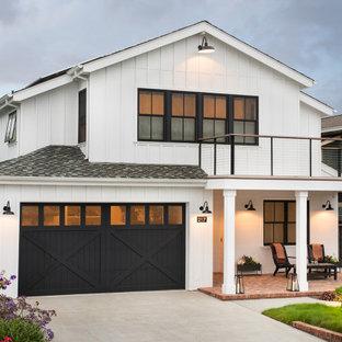 Farmhouse white exterior home idea in San Francisco