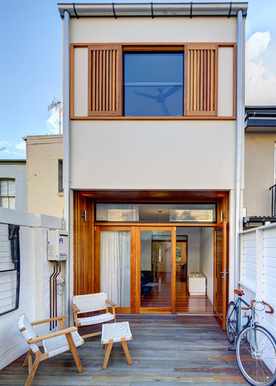 Modern Exterior by Angus Mackenzie Architect