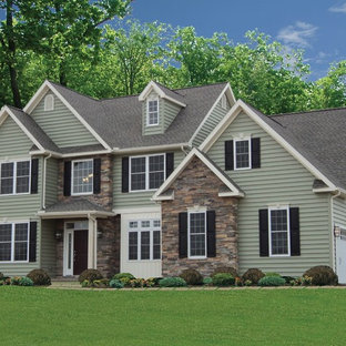 Inspiration for a transitional exterior home remodel
