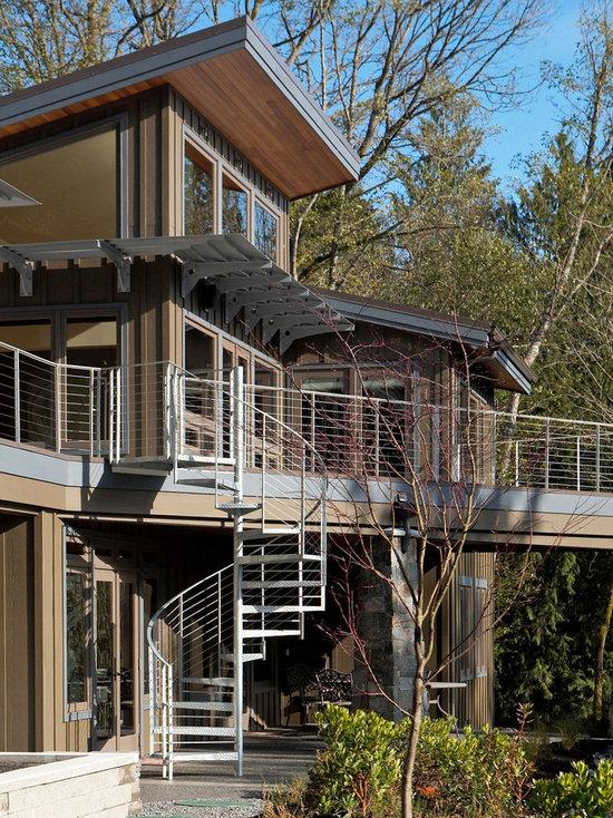 Aluminum Exterior Stair Handrails Houzz