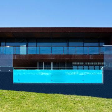 Swimming pool window feature