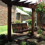Single Beam Swing Structure Traditional Patio By My