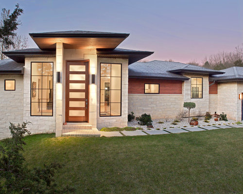 Exterior House Design Photos exterior wall designs indian houses Example Of A Beige One Story Mixed Siding Exterior Home Design In Other With A