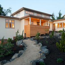 Contemporary Exterior by dC Fine Homes & Interiors