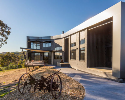 Houzz industrial canberra queanbeyan exterior home for Home designs canberra