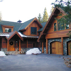 Traditional Exterior by Kathleen Burke Design