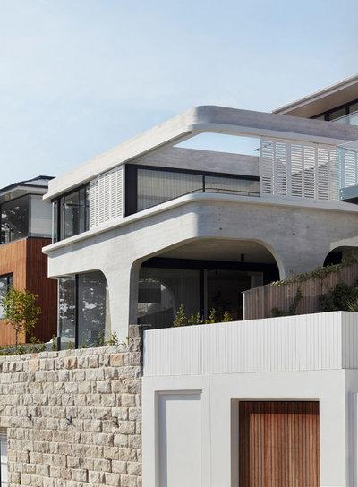 Trendy Hus & facade by Luigi Rosselli Architects