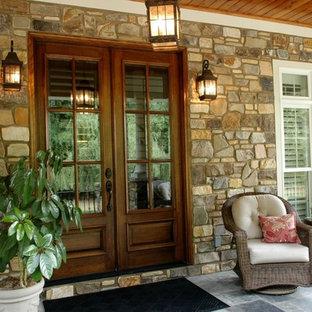 Tantallon Natural Stone Veneer Exterior Front Porch