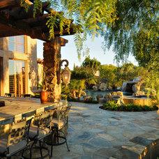 Mediterranean Exterior by Elevation Architectural Studios
