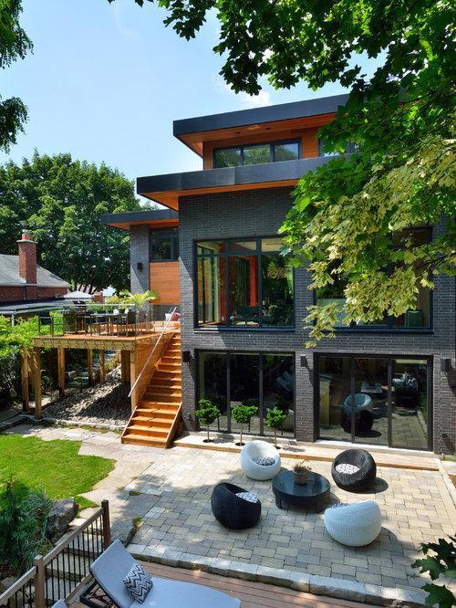 Foto e idee per facciate di case facciata di una casa for Progetti di case ranch contemporanee