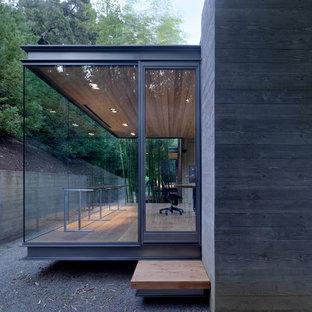 Idéer för små funkis betonghus, med allt i ett plan och platt tak