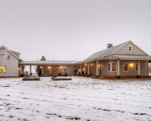 Country Carport Ranch House Attached Plan Home Design