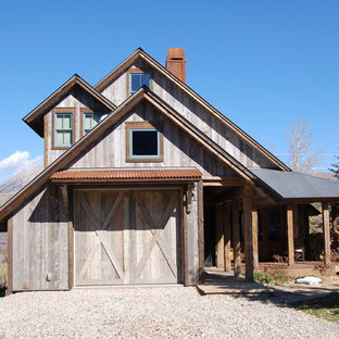 Example of a mountain style exterior home design in Denver