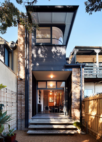 Contemporary Exterior by Aspire Constructions
