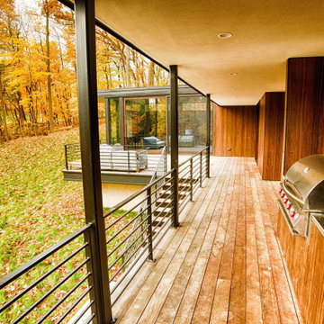 Terraced House - Elm Grove - Modern Wood Exterior in a Wooded Suburban Setting