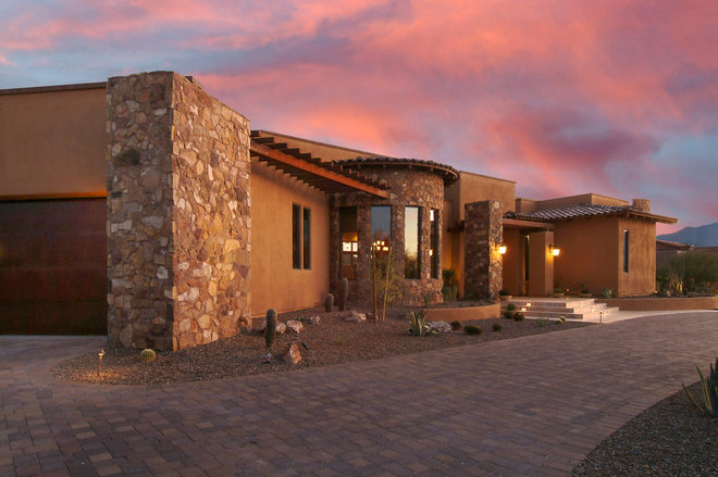 Roots of style pueblo revival architecture welcomes for Mediterranean style architecture characteristics