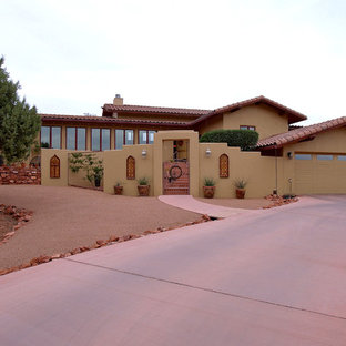 Inspiration for a southwestern exterior home remodel in Other
