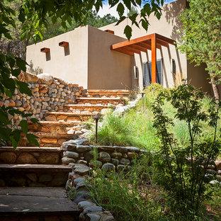 Inspiration for a contemporary exterior home remodel in Albuquerque