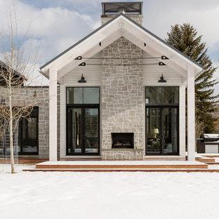 Ispirazione per la facciata di una casa country