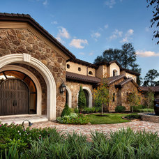 Mediterranean Exterior by JAUREGUI Architecture Interiors Construction