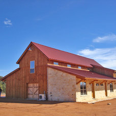 Rustic Exterior by Sand Creek Post & Beam