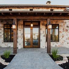 Farmhouse Exterior by Geschke Group Architecture