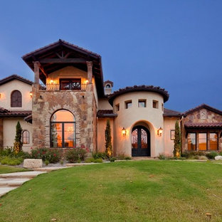 Tuscan exterior home photo in Austin