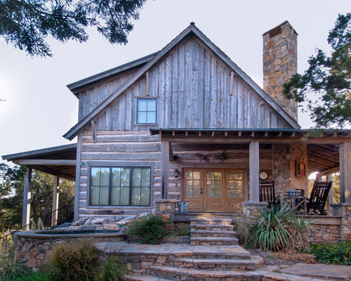 Barn wood porch home design ideas pictures remodel and decor for Rustic siding ideas