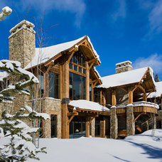 Contemporary Exterior by Teton Heritage Builders