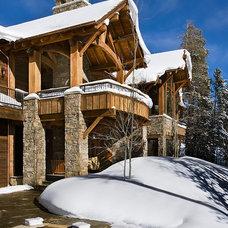 Contemporary Exterior by Teton Heritage Builders