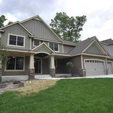 Traditional Exterior by F & B Construction Inc. Co MN Custom Home Builders