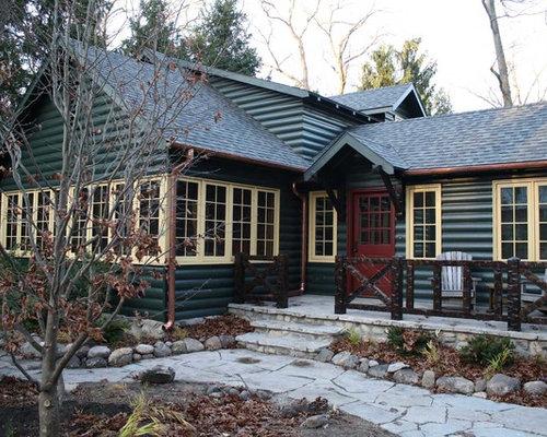 Cabin color scheme home design ideas pictures remodel for Cabin exterior paint colors
