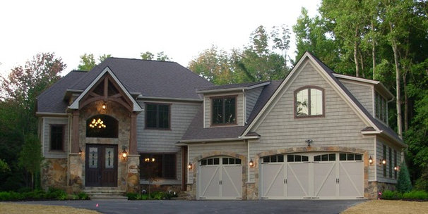 Eclectic Exterior by Otero Signature Homes