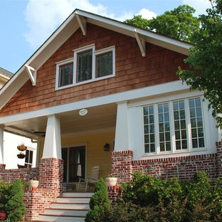Example of an arts and crafts exterior home design in Atlanta