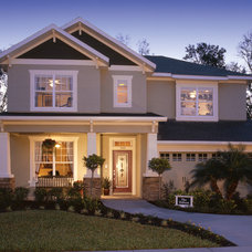 Contemporary Exterior by David Weekley Homes