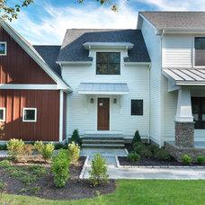 Farmhouse Exterior by Meridian Design/Build