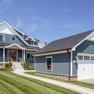 Beautiful Coastal Mixed Siding Exterior Home Pictures