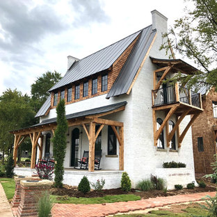 The Edison - a Solid Brick Masonry Home with White Limewashed Brick