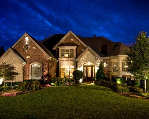 Brick stone combination home design ideas pictures remodel and decor Home exterior stone design ideas