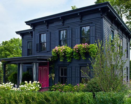 Victorian Black Exterior Design Ideas Renovations Photos