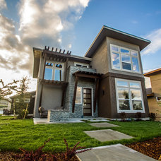 Contemporary Exterior by Boise Hunter Homes