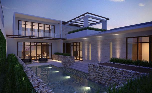 Modern Exterior by khatulistiwa design