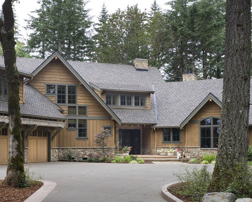 Shaker siding home design ideas pictures remodel and decor for Rustic siding ideas