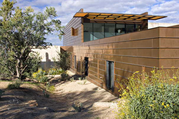 Contemporary Exterior by the construction zone, ltd.