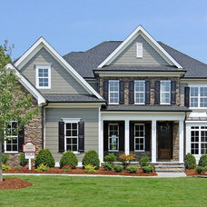 Transitional Exterior by Homes By Dickerson