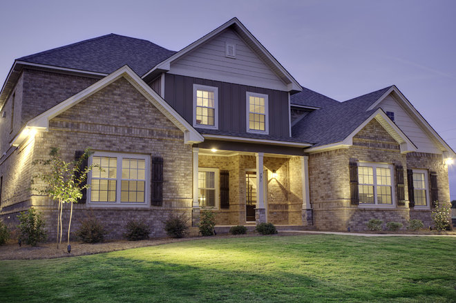 Traditional Exterior by Stone Martin Builders