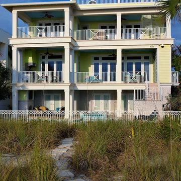 The Milkey Beachfront Custom Home Rear Elevation by Alvarez Homes (813) 701-3299